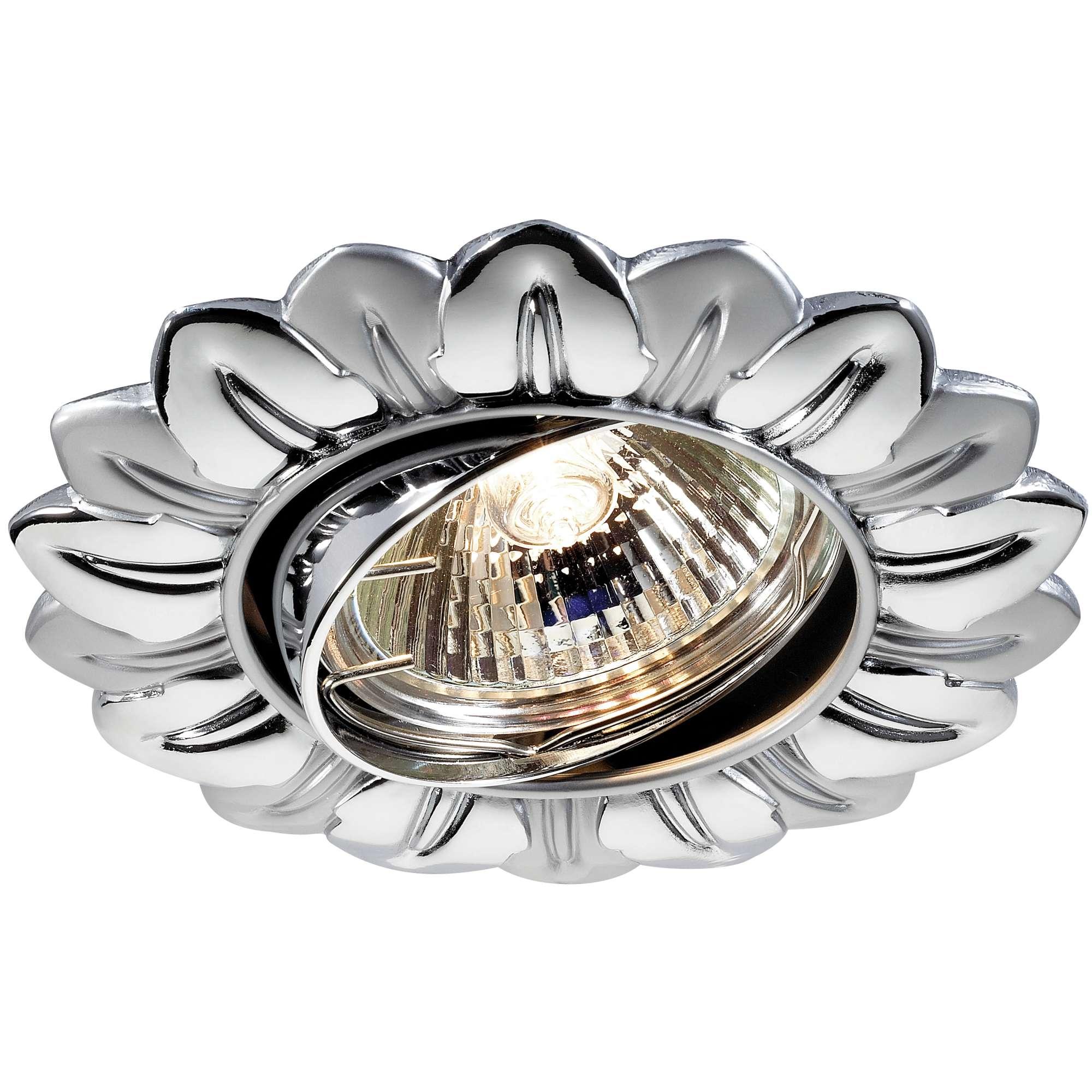 Светильник встраиваемый Novotech Flower nt12 146 369821 светильник встраиваемый novotech flower цвет серый gx5 3 2 8 вт 369821