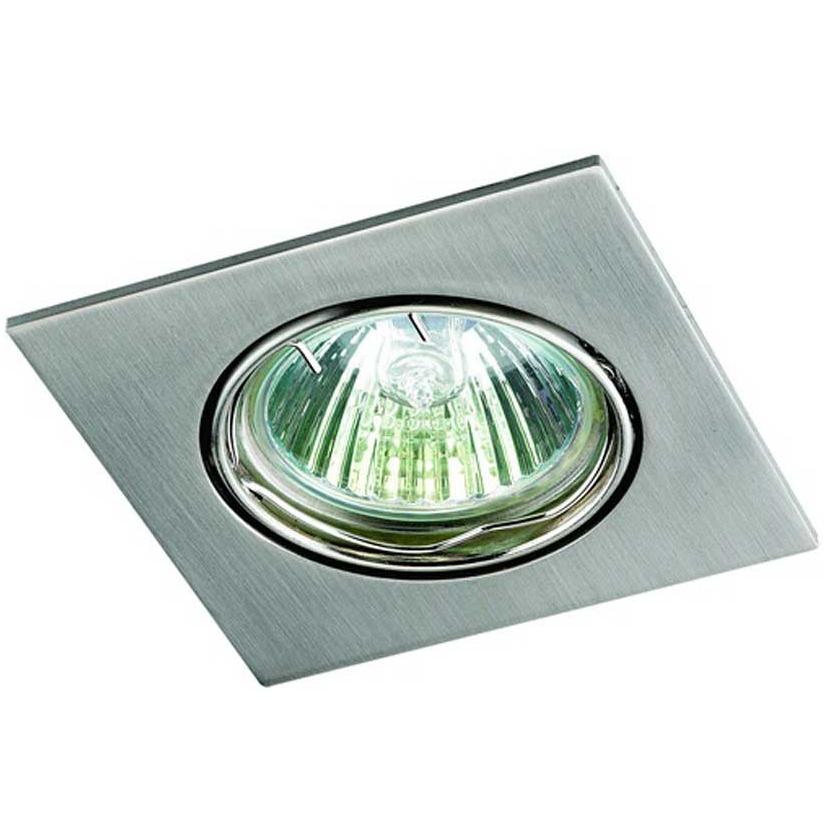 Светильник встраиваемый Novotech Quadro nt09 167 369106 novotech светильник встраиваемый quadro 8 2х8 2 см никель матовый поворотный r6m n33a