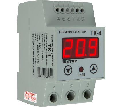 Терморегулятор DIGITOP ТК-4 серый