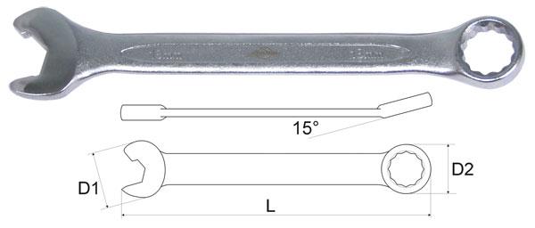 Ключ гаечный комбинированный Aist 010914a-x (14 мм) 2x universal transmission shaft drive 105 150mm for rc crawler climbing d90 scx10