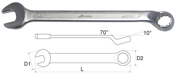 Ключ гаечный комбинированный Aist 010612a (12 мм) ключ комбинированный kraft 14 мм кт 700508