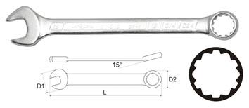 Ключ гаечный комбинированный 15х15 Aist 011315a (15 мм) ключ гаечный комбинированный 19х19 aist 010619a 19 мм