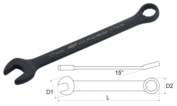 Ключ гаечный комбинированный Aist 011116b (16 мм) aist 67310905