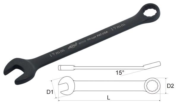 Ключ гаечный комбинированный Aist 011117b (17 мм) ключ комбинированный kraft 14 мм кт 700508