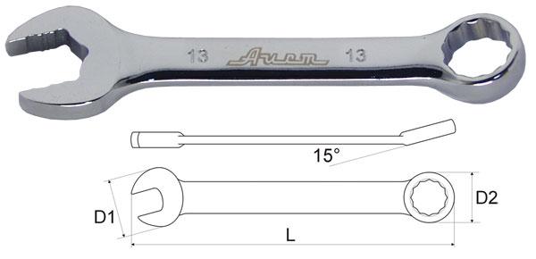 Ключ гаечный комбинированный 19х19 Aist 010519b-x (19 мм)