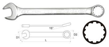 Ключ гаечный комбинированный 22х22 Aist 011322a (22 мм) ключ гаечный комбинированный kraft кт 700516 22 мм