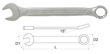 Купить Ключ гаечный комбинированный Aist 011224-m (24 мм), Тайвань