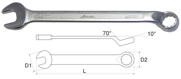 Ключ гаечный комбинированный 24х24 Aist 010624a (24 мм) ключ комбинированный kraft 14 мм кт 700508