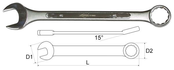 Ключ гаечный комбинированный 35х35 Aist 011935a (35 мм) ключ комбинированный kraft 14 мм кт 700508
