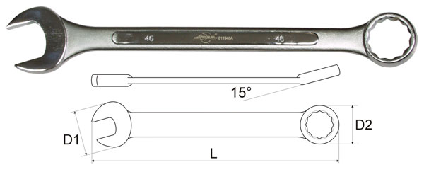 Ключ гаечный комбинированный 43х43 Aist 011943a (43 мм) ключ гаечный комбинированный 19х19 aist 010619a 19 мм