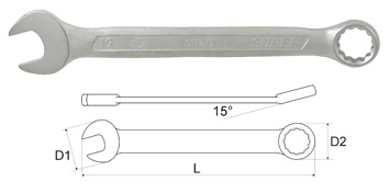 Ключ гаечный комбинированный Aist 011208-m (8 мм) ключ гаечный комбинированный kraft кт 700551 8 17 мм