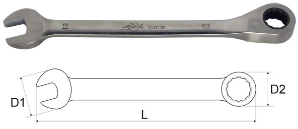 Ключ гаечный комбинированный 14х14 Aist 010314b