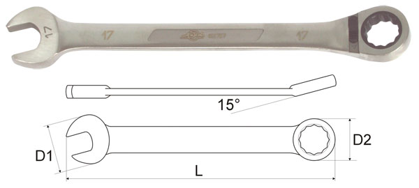 Ключ гаечный комбинированный 14х14 Aist 11714 цена