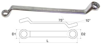 Ключ гаечный накидной 10х11 Aist 02011011a (10 / 11 мм) aist 67310905