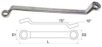 Ключ гаечный накидной 30х32 Aist 02013032a (30 / 32 мм) щупы aist 19211120