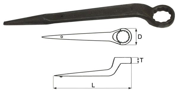 Ключ гаечный накидной 60мм Aist 021160a (60 мм) aist 67310905