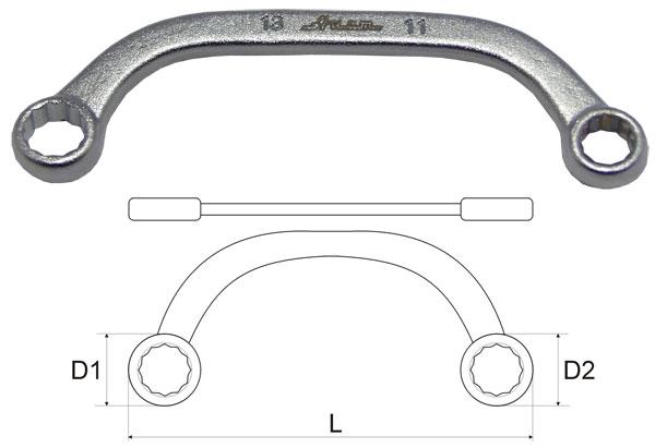 Ключ гаечный накидной 14х15 Aist 02061415a-m (14 / 15 мм) ключ гаечный накидной kraft кт 700542 14 15 мм
