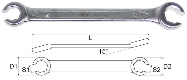 Ключ Aist 04021012a (10 / 12 мм) щупы aist 19211120