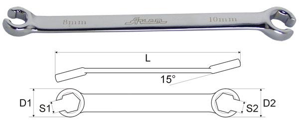 Ключ Aist 04010809b-x (8 / 9 мм) кабошон бирюза 8 9 мм