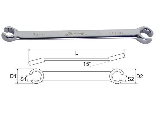Ключ гаечный AIST 04010809B-X (8 / 9 мм)