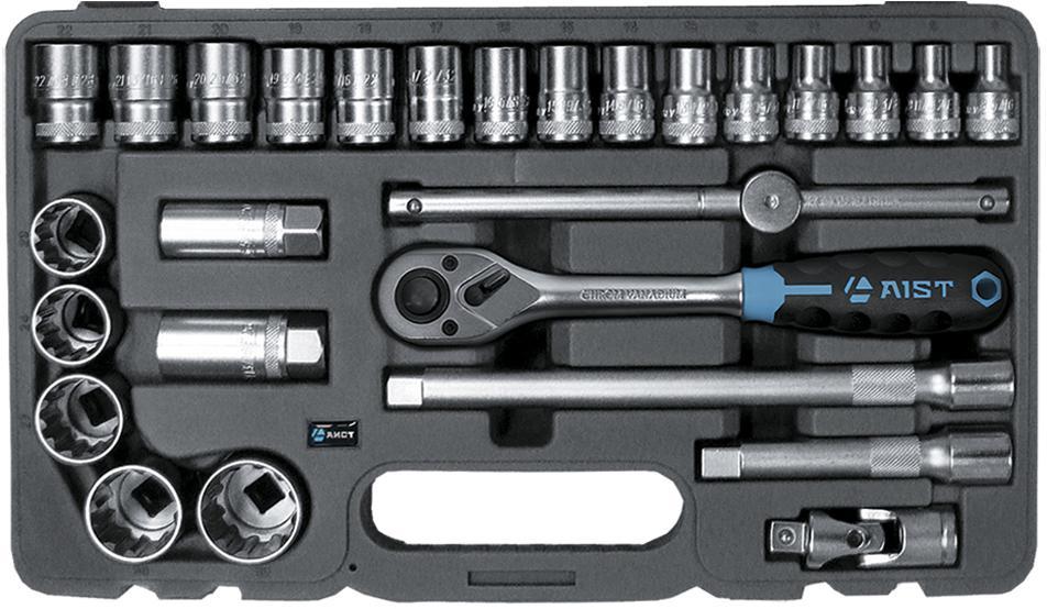 Набор инструментов в чемодане, 27 предметов Aist 409227b amico набор инструментов в чемодане