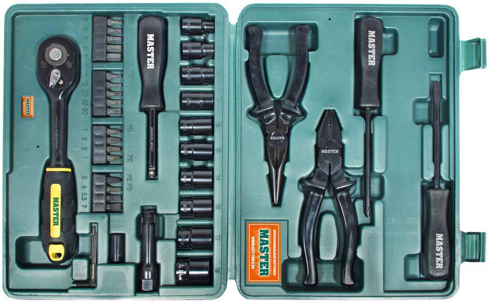 Набор инструментов в чемодане, 41 предмет Aist 308141bl-m набор инструментов в чемодане 94 предмета aist 409194w