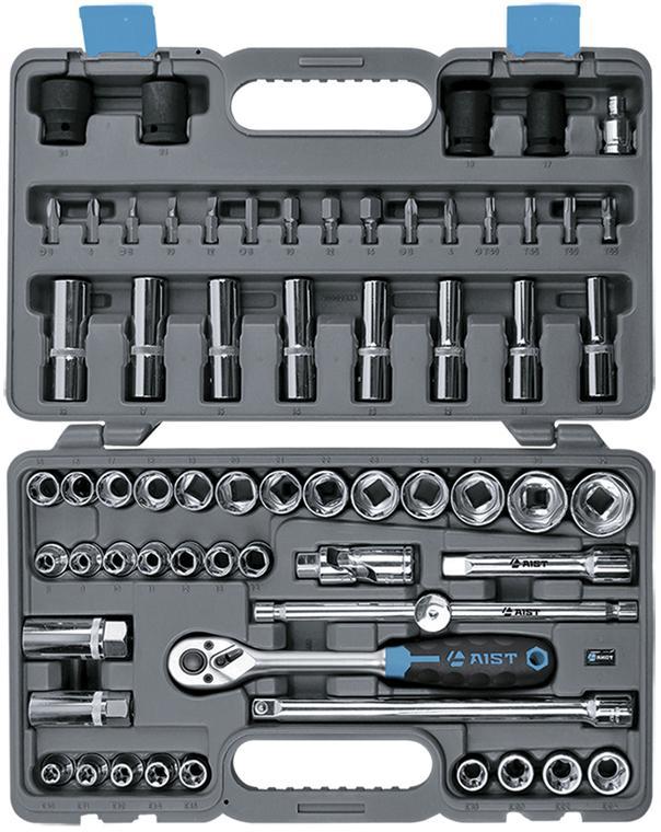Набор инструментов в чемодане, 64 предмета Aist 409164b набор инструментов в чемодане 94 предмета aist 409194w