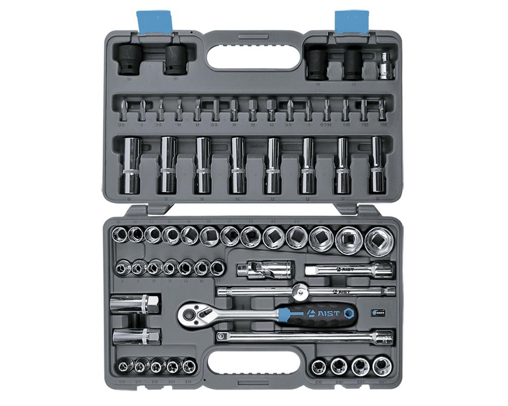 Набор инструментов в чемодане, 64 предмета Aist 409364b набор инструментов в чемодане 94 предмета aist 409194w