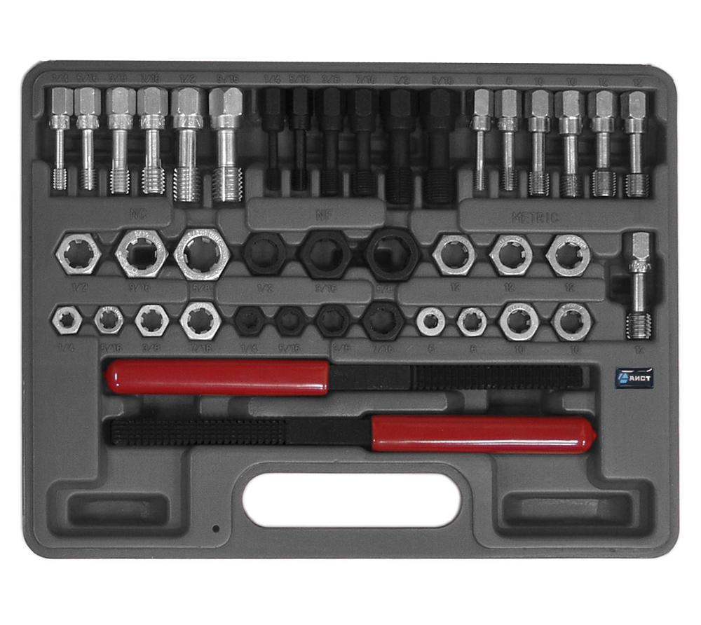 Набор инструментов в чемодане инструмента для восстановления резьбы, 43 предмета Aist 79320143 набор инструментов 46шт great wall 405046 в чемодане
