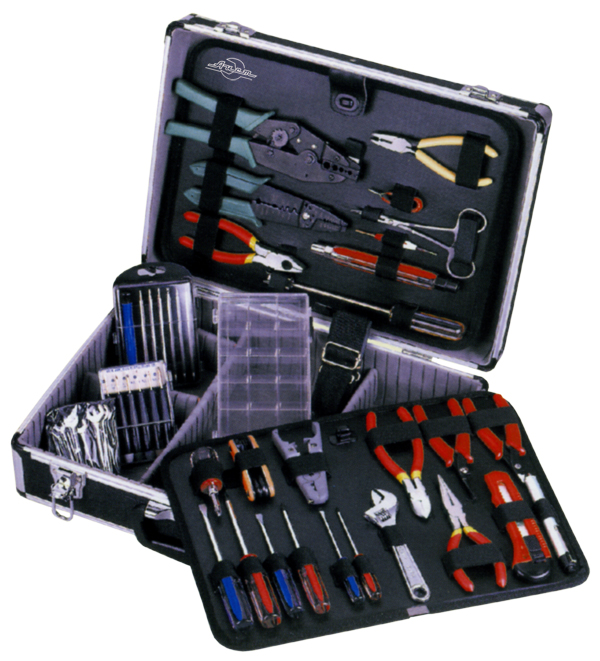 Набор инструментов в чемодане, 48 предметов Aist 703040-m ключ разводной truper pet
