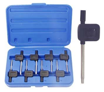 Набор коротких ключей torx в пластиковом кейсе, 7 шт. Aist 1050308t  набор коротких ключей 8шт torx plus wiha 361ip h8 36459