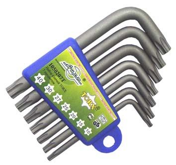 Набор коротких Г-образных ключей torx, 7 шт. Aist 1054107t набор коротких ключей 8шт torx plus wiha 361ip h8 36459