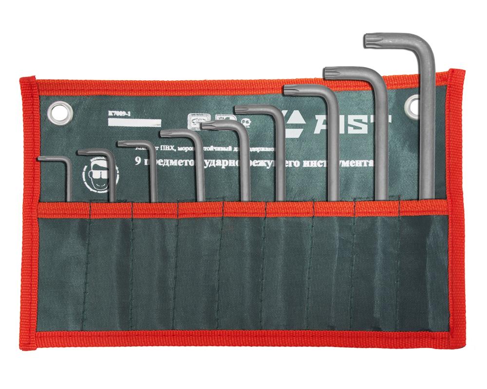 Набор длинных Г-образных ключей torx, 9 шт. Aist 1054209t-1 ключ torx t27 угловой aist 154227tt