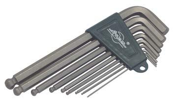 Набор Г-образных шестигранных ключей, 9 шт. Aist 1054209hw