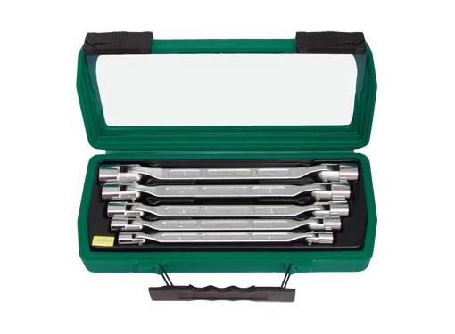 Набор двусторонних ключей с шарнирными торцевыми головками, 5 шт. AIST 0080205A