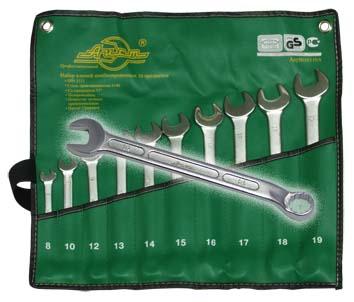Набор комбинированных гаечных ключей, 10 шт. Aist 0010810ax (7 - 22 мм) набор торцевых головок jonnesway 3 8dr 6 22 мм и комбинированных ключей 7 17 мм 36 предметов
