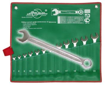 Набор Aist 0010212a1 (7 - 22 мм) набор торцевых головок jonnesway 3 8dr 6 22 мм и комбинированных ключей 7 17 мм 36 предметов
