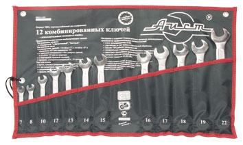 Набор комбинированных гаечных ключей, 12 шт. Aist 0011212ax1-m (7 - 22 мм)  набор комбинированных гаечных ключей airline 7 шт