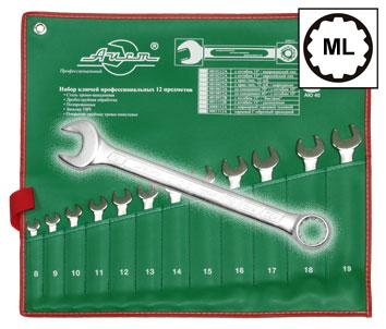 Набор комбинированных гаечных ключей, 12 шт. Aist 0011312a (8 - 19 мм) сирень classik б 50х90 70х130 в коробке набор полотенец фиеста