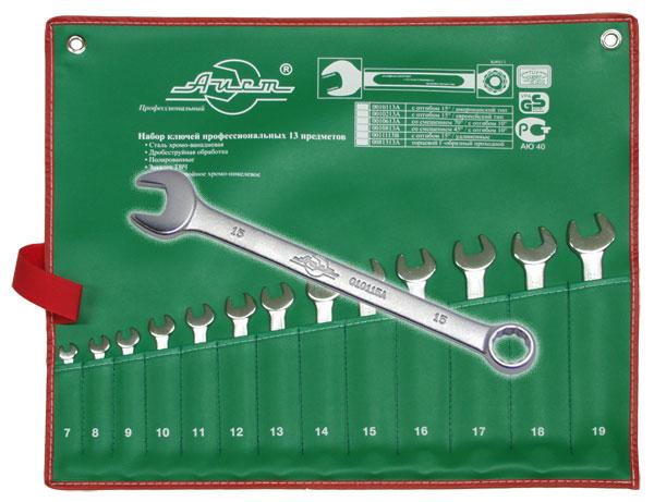 Набор комбинированных гаечных ключей, 13 шт. Aist 0010113a-x (7 - 19 мм) набор комбинированных гаечных ключей airline 7 шт