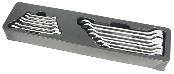 Набор комбинированных гаечных ключей, 13 шт. Aist 0-0010813a (7 - 19 мм) набор торцевых головок jonnesway 3 8dr 6 22 мм и комбинированных ключей 7 17 мм 36 предметов
