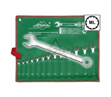 Набор комбинированных гаечных ключей, 13 шт. AIST 0011313A (7 - 19 мм)