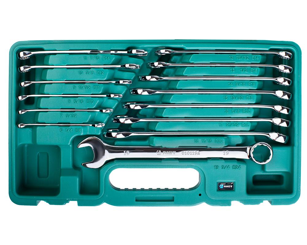 Набор комбинированных удлененных гаечных ключей, 14 шт. Aist 0010114ak1-x (6 - 19 мм) бусина авантюрин зеленый шайба 6 6 5 мм 1 шт