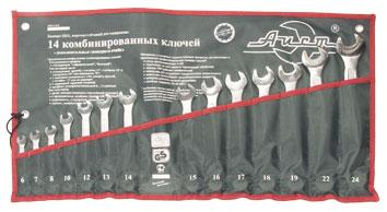Набор комбинированных гаечных ключей, 14 шт. Aist 0011214ax-m (6 - 24 мм) набор комбинированных гаечных ключей 8 шт aist 0011308a 8 19 мм