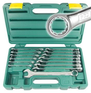Набор комбинированных гаечных ключей, 14 предметов Aist 0011314ak1 (6 - 19 мм) набор ключей berger комбинированных 17 предметов bg1145