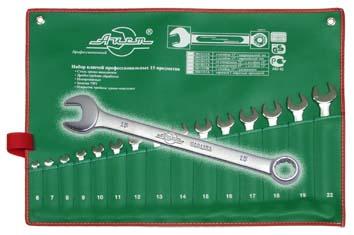 Набор комбинированных гаечных ключей в чехле, 15 шт. Aist 0010115a-x (6 - 22 мм) набор торцевых головок jonnesway 3 8dr 6 22 мм и комбинированных ключей 7 17 мм 36 предметов