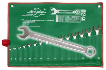 Набор комбинированных гаечных ключей, 15 шт. Aist 0010215a (6 - 22 мм) набор торцевых головок jonnesway 3 8dr 6 22 мм и комбинированных ключей 7 17 мм 36 предметов