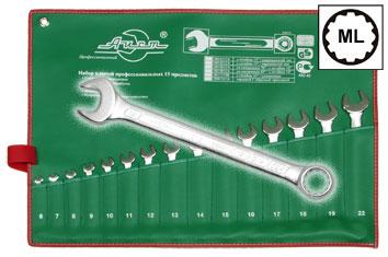 Набор комбинированных гаечных ключей в чехле, 15 шт. Aist 0011315a (6 - 22 мм) набор комбинированных гаечных ключей 12 шт курс 63418 6 22 мм