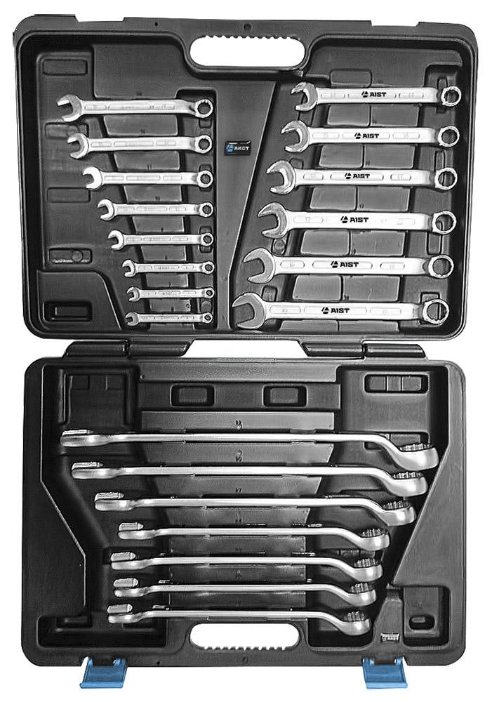 Набор комбинированных гаечных ключей, 21 шт. Aist 0010821ak (6 - 32 мм) набор комбинированных гаечных ключей 26 шт jonnesway w26126s 6 32 мм