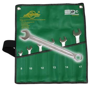 Набор комбинированных гаечных ключей, 6 шт. Aist 0010206a (8 - 17 мм) набор ключей berger комбинированных 17 предметов bg1145